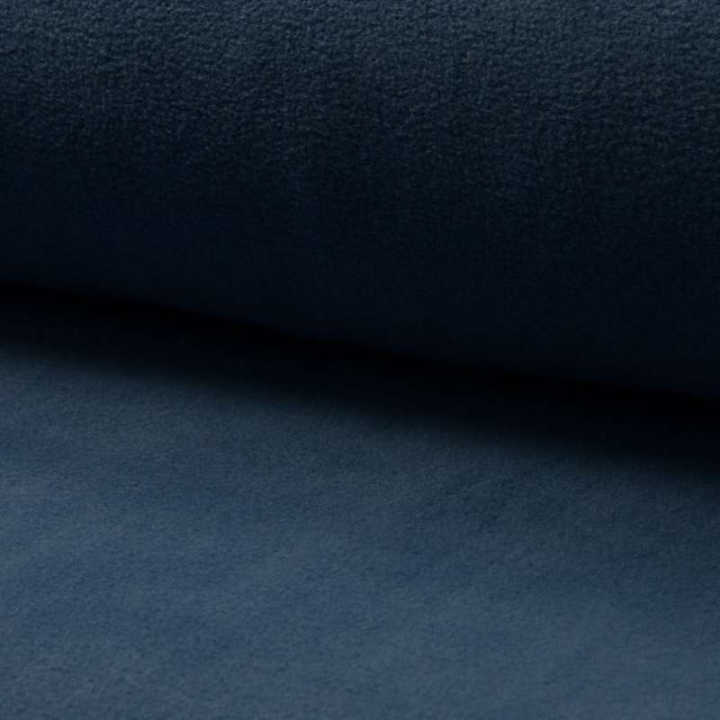 Tissu Polaire Uni Jeans