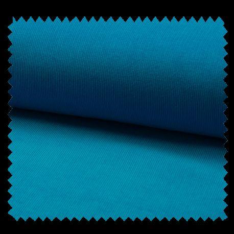 Tissu Velours Milleraie Uni Turquoise