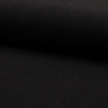 Tissu Velours Milleraie Uni Noir