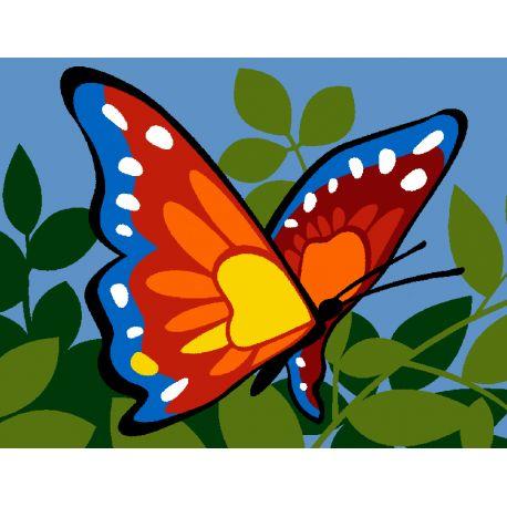 Kit Canevas Enfant Papillon