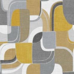 Tissu Bauhaus Digital Jaune