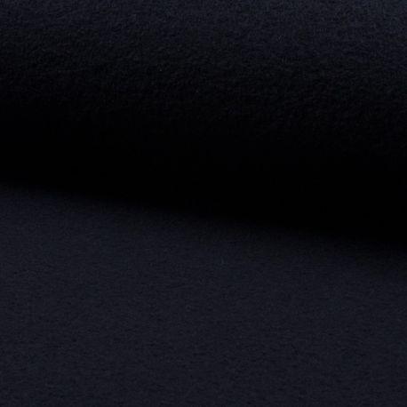 Tissu Laine Bouillie Uni Bleu Marine