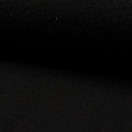 Tissu Laine Bouillie Uni Noir