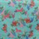 Tissu Cretonne Bio Animaux Bleu