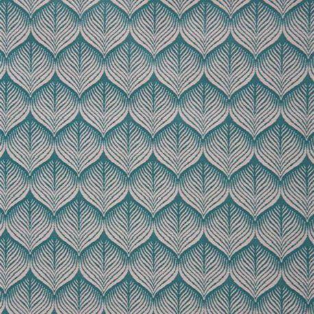 Tissu Avignon Jacquard Bleu