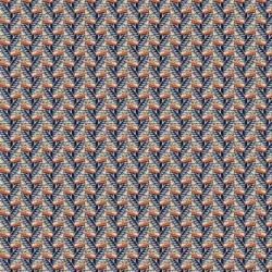 Tissu Eko Popeline Imprimé Bleu