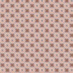 Tissu Thalie Popeline Imprimé Corail