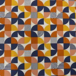 Tissu Bauhaus Imprimé Orange
