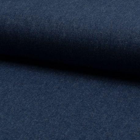 Tissu Jeans Léger Bleu Marine