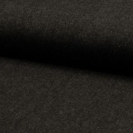 Tissu Jeans Léger Noir Ebene