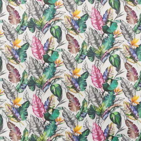 Tissu Plume Popeline Digital Multico