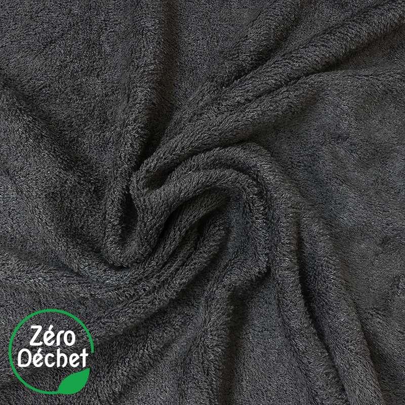 Tissu Eponge Bambou Charbon