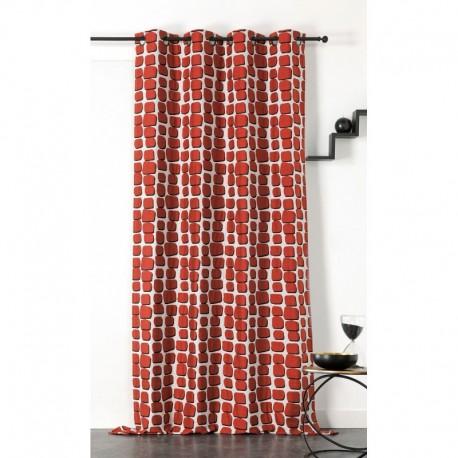 Tissu Wall Jacquard Terracotta