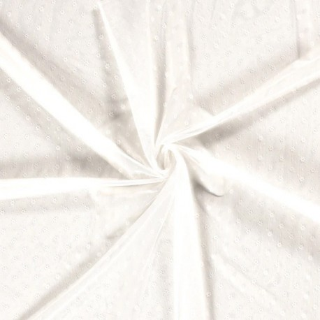 Tissu Dentelle Fleur Blanc Cassé