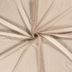 Tissu Dentelle Fleur Beige