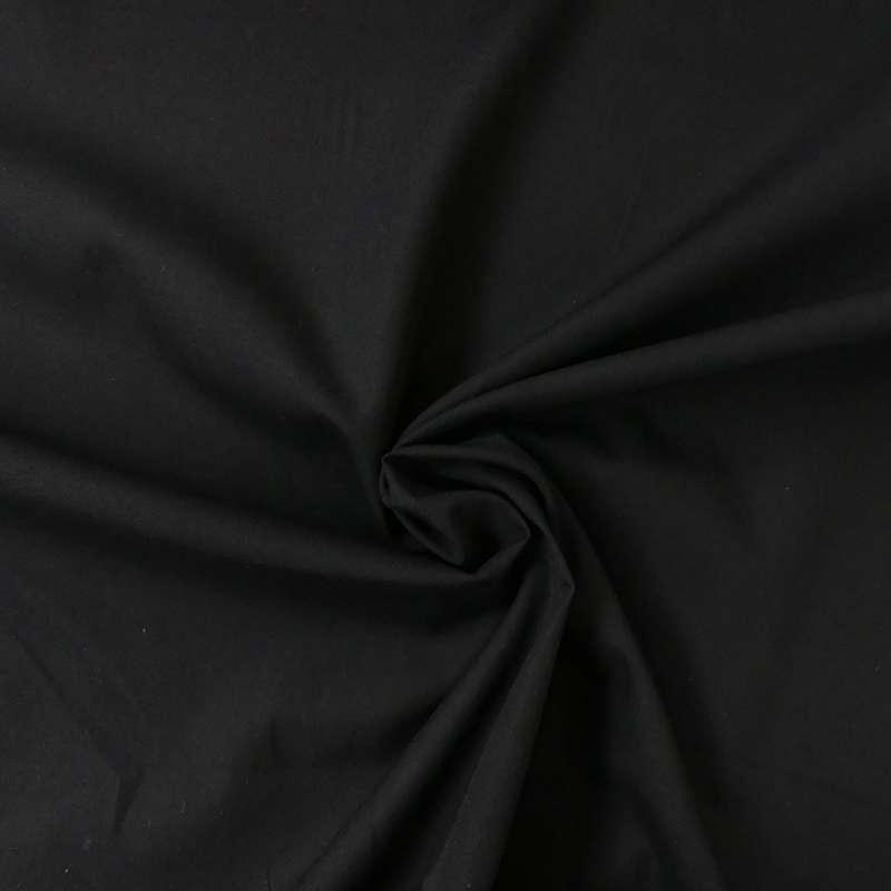 Tissu Percale Antibacterien Antiviral Noir