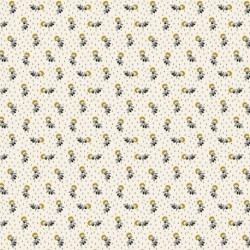 Tissu Salomé Imprimé Moutarde