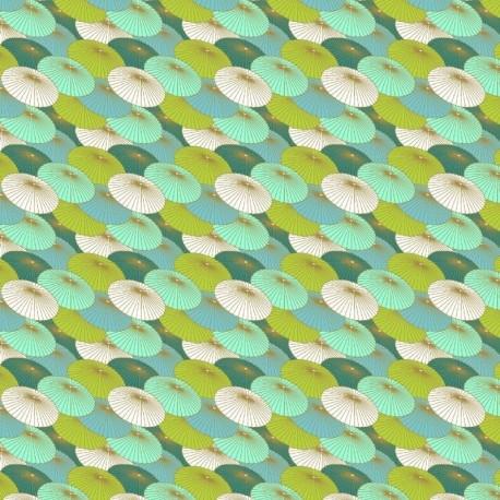 Tissu Ombrelle Imprimé Turquoise