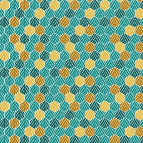 Tissu Floki Imprimé Turquoise