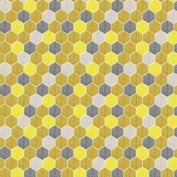 Tissu Floki Imprimé Moutarde