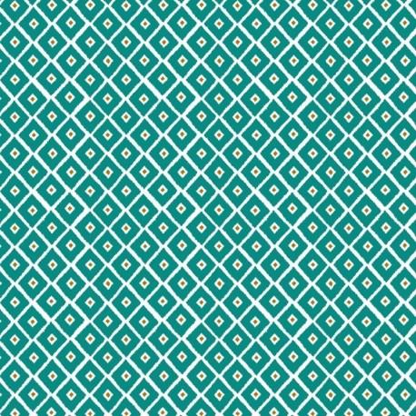 Tissu Pekka Imprimé Turquoise
