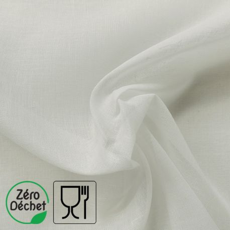 Tissu Celeste Mousseline Blanc