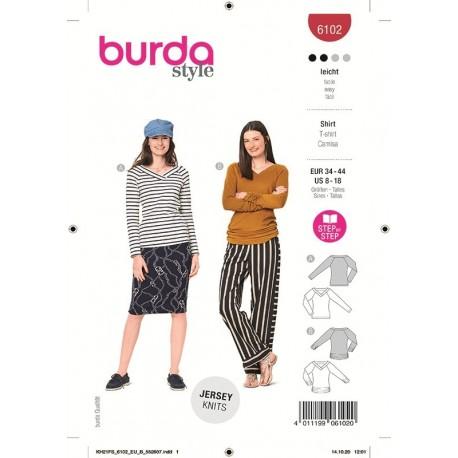 Patron Burda 6102 T-shirt