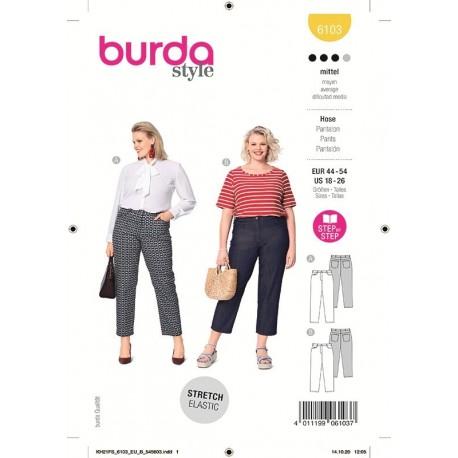 Patron Burda 6103 Pantalon 44/52