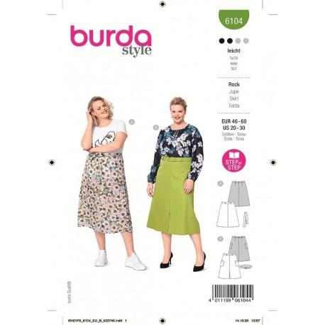 Patron Burda 6104 Jupe 46/60