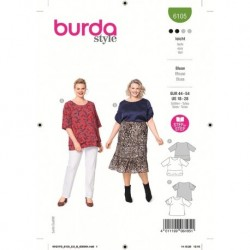 Patron Burda 6105 Blouse 44/54