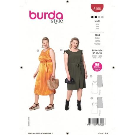 Patron Burda 6106 Robe 44/54