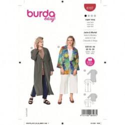 Patron Burda 6107 Veste/blouse 44/54