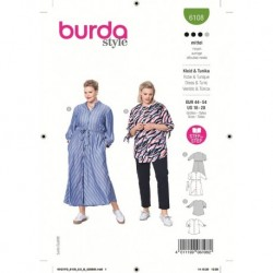 Patron Burda 6108 Robe 44/54