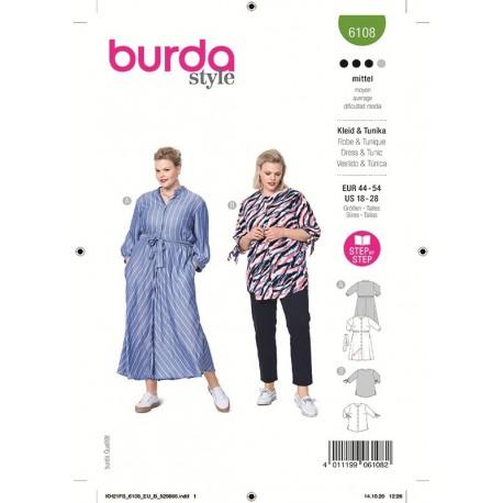 Patron Burda 6108 Robe 44/54