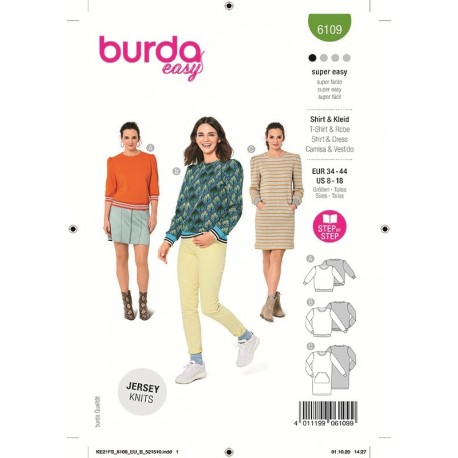 Patron Burda 6109 Sweat-shirt 34/44