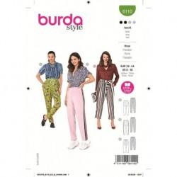 Patron Burda 6110 Pantalon 34/44
