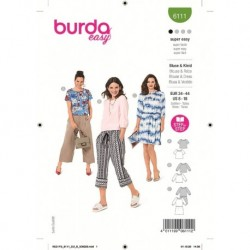 Patron Burda 6111 Blouse 34/44
