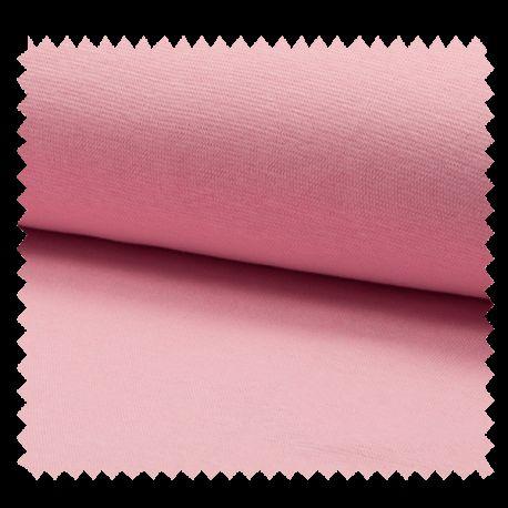 Tissu Bord Cote Uni Vieux Rose