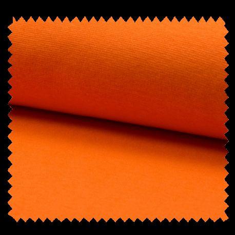 Tissu Bord Cote Uni Orange