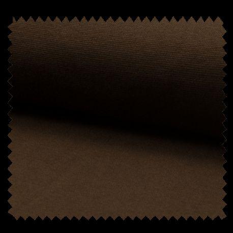 Tissu Bord Cote Uni Choco