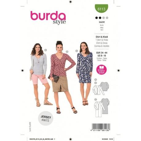 Patron Burda 6113 T-shirt 34/44