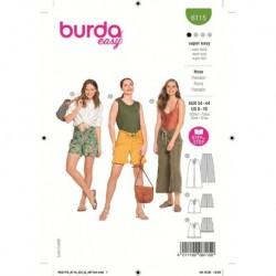 Patron Burda 6115 Pantalon 34/44