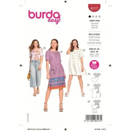 Patron Burda 6117 Top/robe 34/44