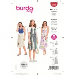 Patron Burda 6118 Top/robe 34/44