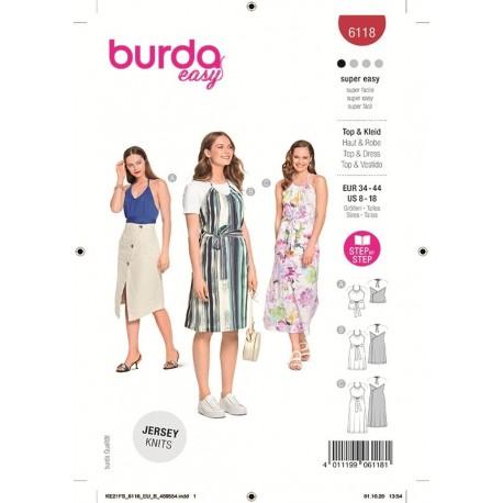Patron Burda 6118 Top/robe 34/44