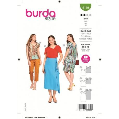 Patron Burda 6119 T-shirt 34/44
