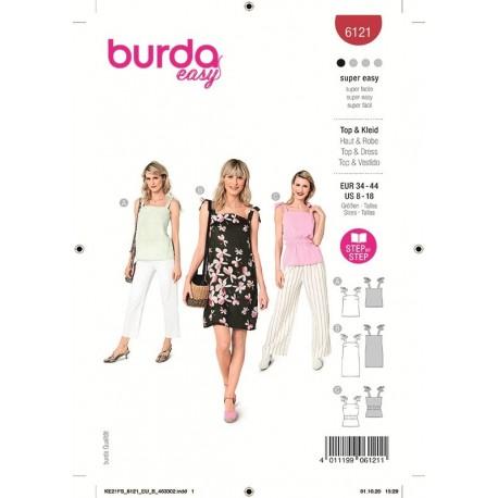 Patron Burda 6121 Top/robe 34/44
