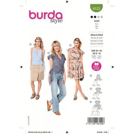 Patron Burda 6122 Blouse 34/44
