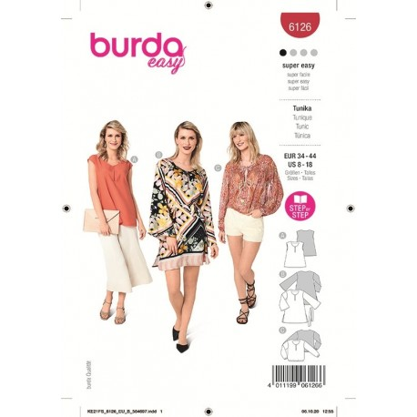 Patron Burda 6126 Tunique 34/44