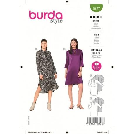 Patron Burda 6127 Robe 34/44